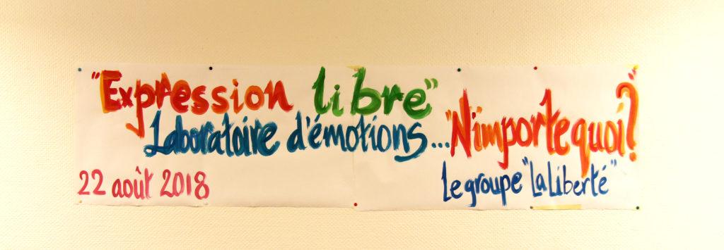 Expression libre, laboratoire d'émotions, N'importe quoi ? – Activités Communautaires / CHUV